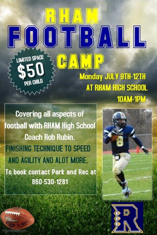 Copy Of Football Training Camp Flyer Template 1 Town Of Hebron